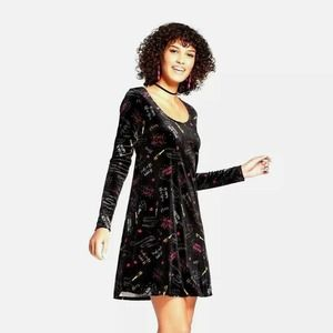 Xhilaration Velvet New Years Eve Pattern Dress
